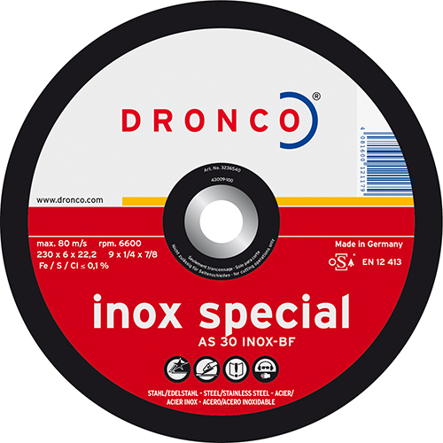 Disco de corte AS 30 INOX Special-metal