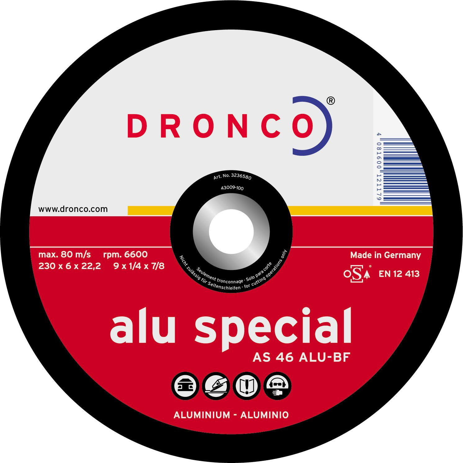 Disco de corte AS 46 ALU Special-metal