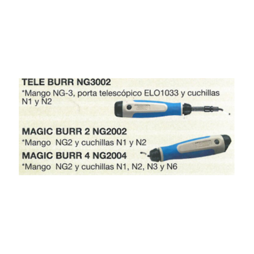 TELE BURR NG-3002 y MAGIC BURR NG-2002 y NG-2004